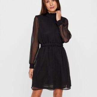 Pieces černé šaty se stojáčkem