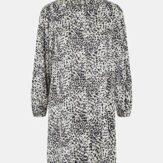 Pieces krémové košilové šaty se vzory