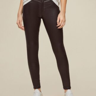 Dorothy Perkins tmavě hnědé skinny fit kalhoty