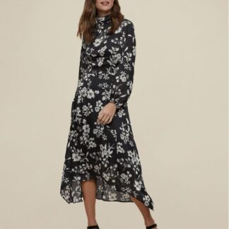 Dorothy Perkins tmavě modré midi květované šaty