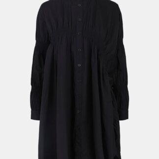 Pieces černé volné košilové šaty