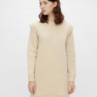 Pieces krémové mikinové šaty