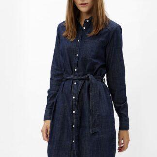 Jacqueline de Yong modré košilové šaty s páskem Esra