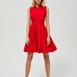 Moodo červené áčkové šaty