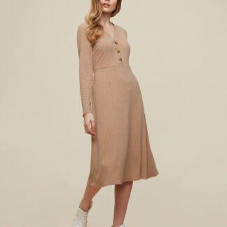 Dorothy Perkins hnědé šaty s knoflíky
