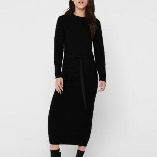 Only černé midi svetrové šaty Dawn