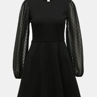 Tally Weijl černé šaty s transparentními rukávy