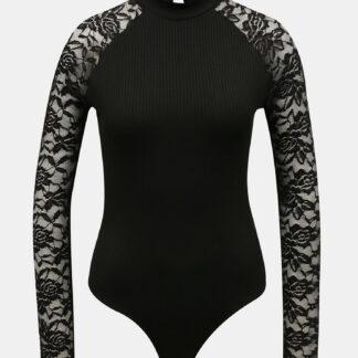 Tally Weijl černé dámské body s krajkovými rukávy