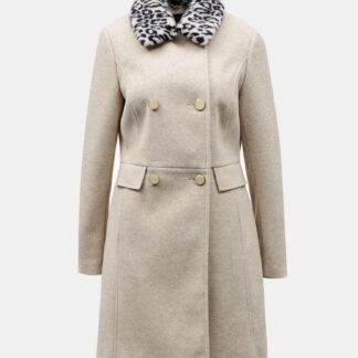 Dorothy Perkins béžový zimní kabát