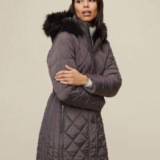 Dorothy Perkins šedý zimní kabát