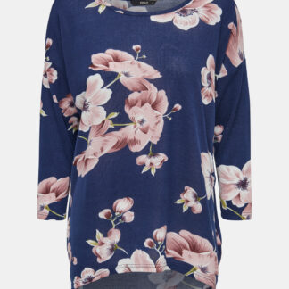 Only modré květované dámské tričko