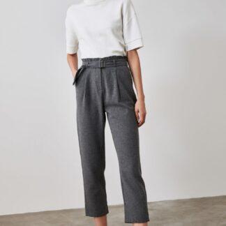 Trendyol tmavě šedé kalhoty