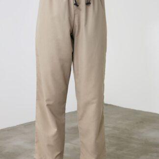 Trendyol béžové dámské zkrácené kalhoty