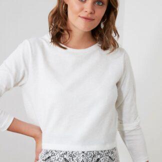 Trendyol bílé dámské tričko