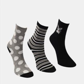 Trendyol dámský 3 pack černých a šedých ponožek