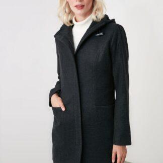 Trendyol černý kabát s kapucí