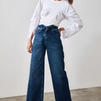 Trendyol modré mom fit džíny