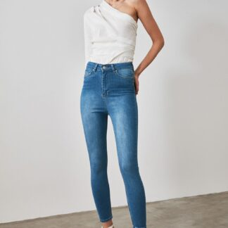 Trendyol modré skinny fit džíny
