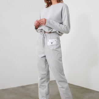 Trendyol světle šedé dámské pyžamo