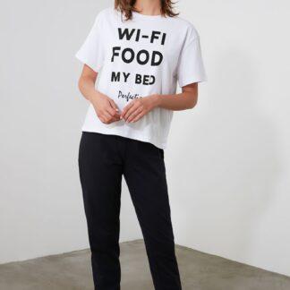 Trendyol černo-bílé dámské pyžamo