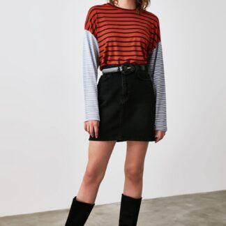 Trendyol cihlové dámské tričko