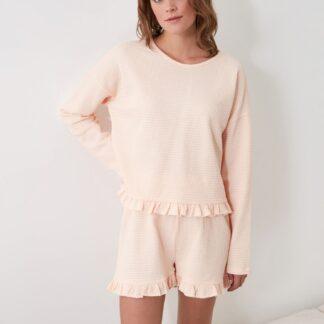 Trendyol světle růžové dámské pyžamo
