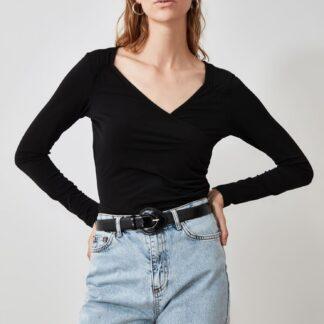 Trendyol černé dámské tričko