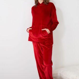 Trendyol červené dámské pyžamo