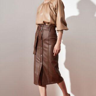 Trendyol hnědá dámská sukně