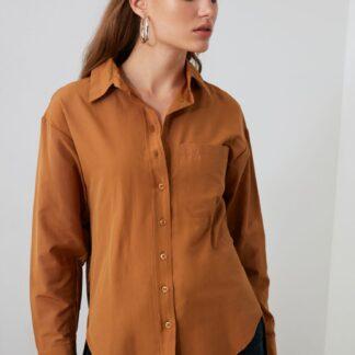Trendyol hnědá košile