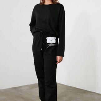 Trendyol černé dámské pyžamo
