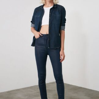 Trendyol tmavě modré skinny fit džíny