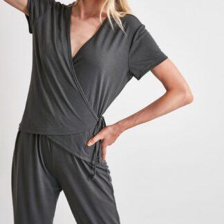 Trendyol tmavě šedé dámské pyžamo