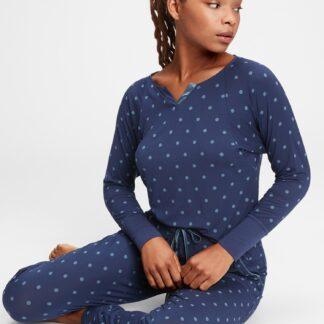 GAP modré dámské tričko na spaní