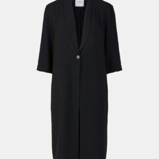 Černý lehký kabát Pieces