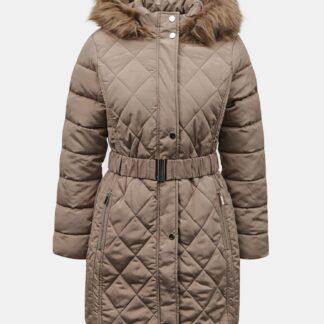 Béžový zimní prošívaný kabát Dorothy Perkins