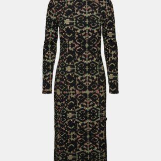 Noisy May černé pouzdrové midi šaty se vzory