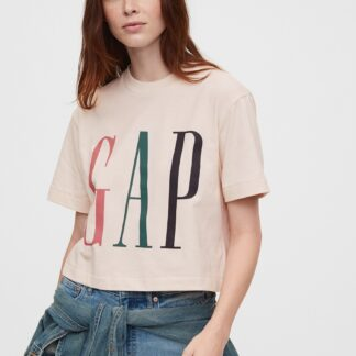 GAP růžové dámské tričko s logem