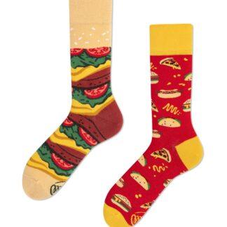 Many Mornings barevné ponožky Fast Food