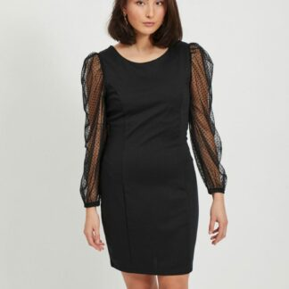 Černé pouzdrové šaty VILA