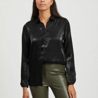 Černá lesklá košile VILA