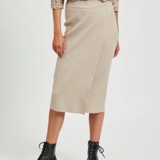 Béžová pouzdrová sukně VILA