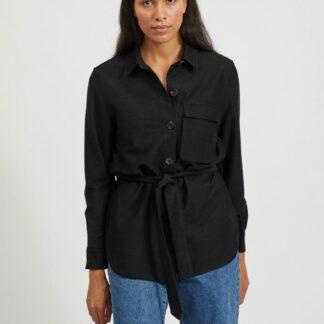 Černá košile se zavazováním .OBJECT
