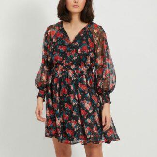 Černé květované šaty VILA