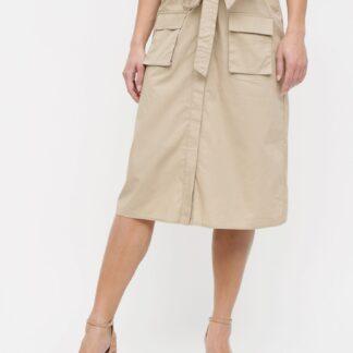 Béžová sukně s kapsami VILA Nyala