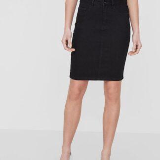 Černá džínová sukně VERO MODA Hot