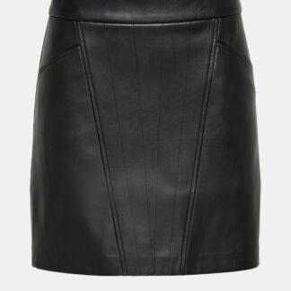 Černá koženková sukně ONLY Naya