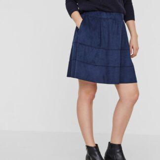 Noisy May tmavě modrá sukně v semišové úpravě Lauren