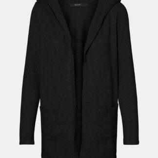 Černý kardigan s kapucí VERO MODA Doffy