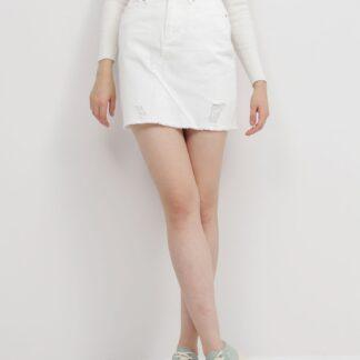 Jacqueline de Yong bílé džínová sukně